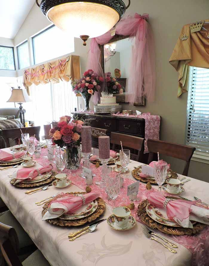 Pretty In Pink A Princess Themed Baby Shower Tablescape