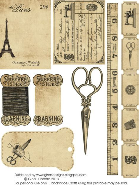 Imágenes para imprimir-Free Printables | Tati Scrap -Recortando Ideas paris vintage sewing