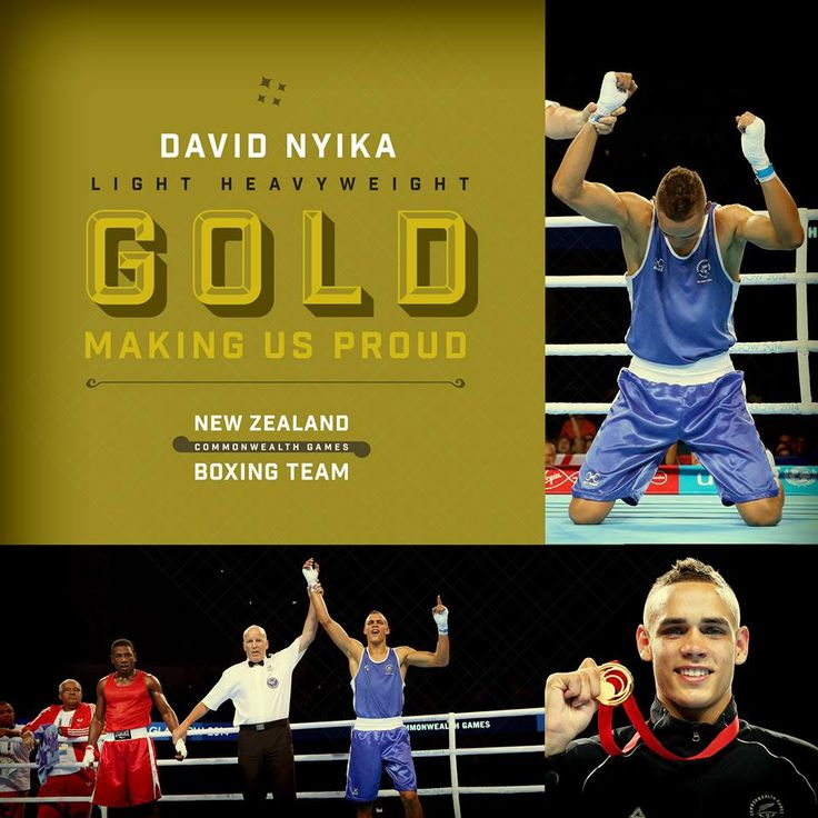David Nyika winning Gold for Men's Light Heavyweight. Well done David you are #Makingusproud #glasgow2014