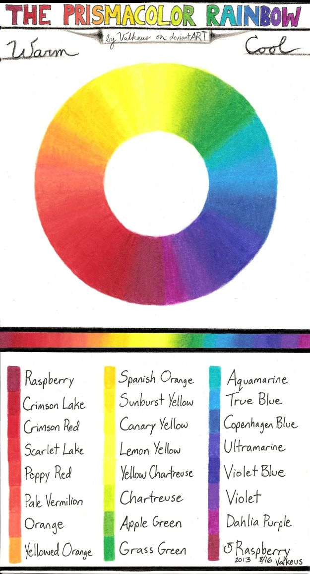 Prismacolor Pencil Combinations I - Rainbow by Valkeus.deviantart.com on @deviantART