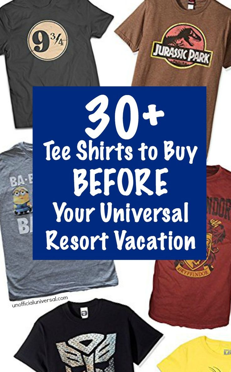 Money Saving Tip: 30+ Universal Tee Shirts to Buy Before You Go on Vacation to Universal Studios, Islands of Adventure, Orlando Hollywood Resort - by unofficialuniversal.com