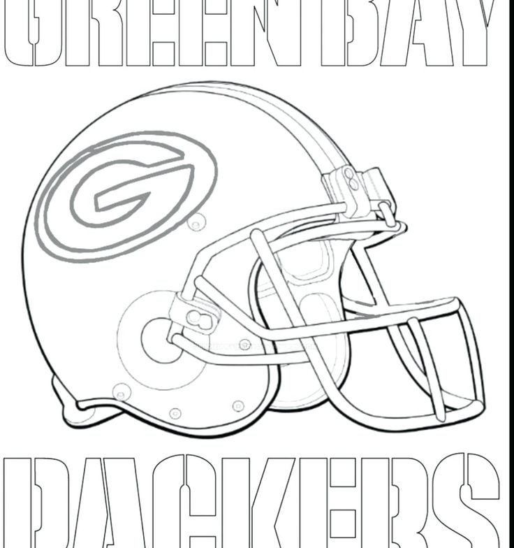 Green Bay Packers Coloring Pages Free to Print | Football ...
