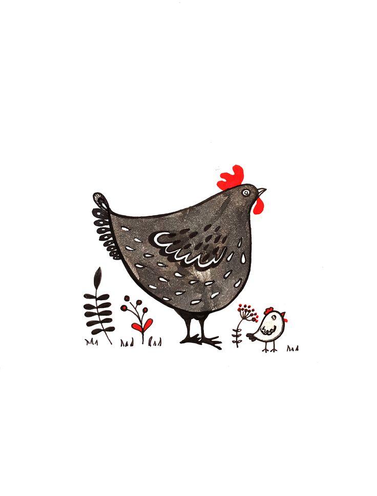 chicken, hen, fowl