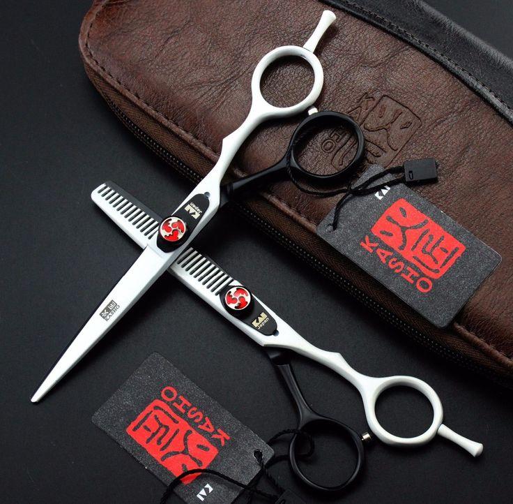 Expédition RAPIDE!! professionnel outils de Coiffage KASHO 6 pouce 440C de haute qualité ciseaux à cheveux barber salon de coiffure cisailles