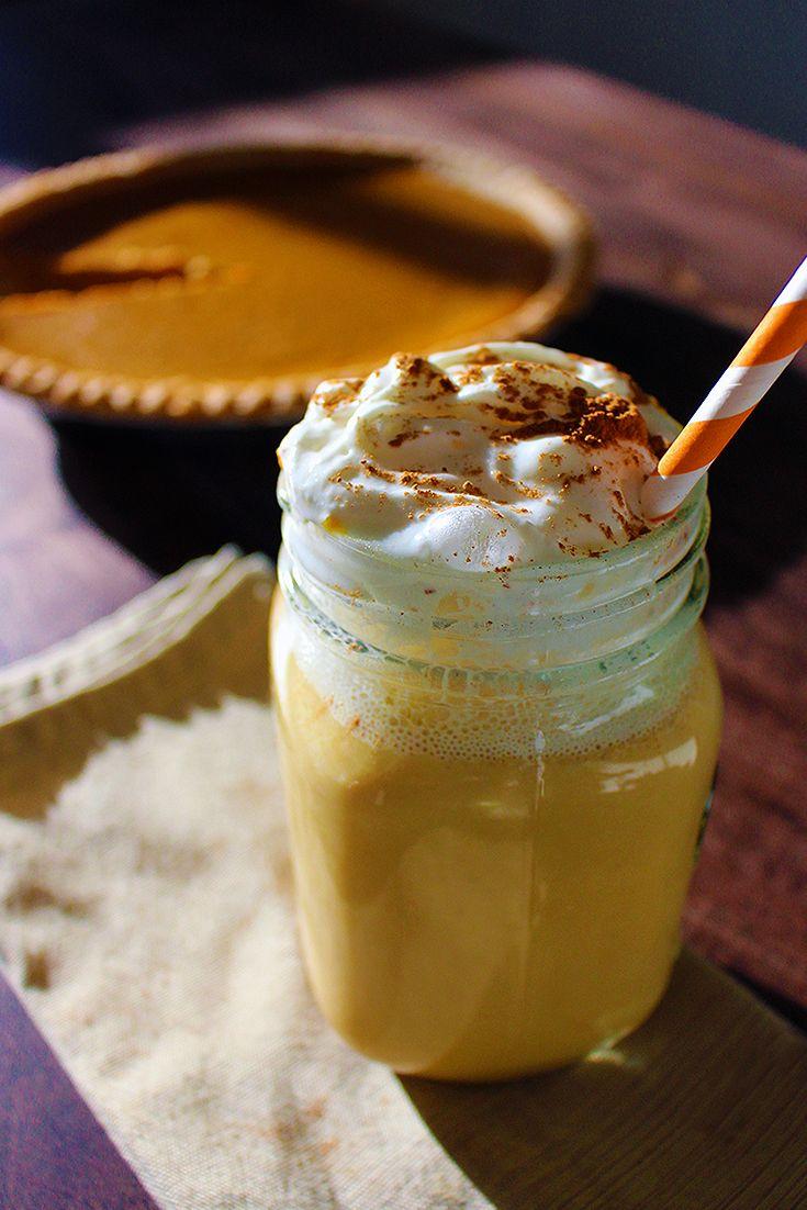 Pumpkin Pie Protein Shake: - 1 Premier Protein 11 oz. Vanilla Shake - ½ cup of organic pumpkin - ½ tsp of pumpkin pie spice - ¼ tsp of cinnamon - 1 tsp of honey - 4-6 ice cubes - Blend until smooth & top with granola