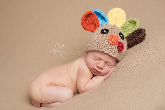Newborn Photo Prop,Turkey Hat,Baby Turkey Hat,Thanksgiving Photo Prop,Baby Boyl Hat,Newborn Boy Hat,Baby Boy Turkey Hat,Boy Turkey Hat    This