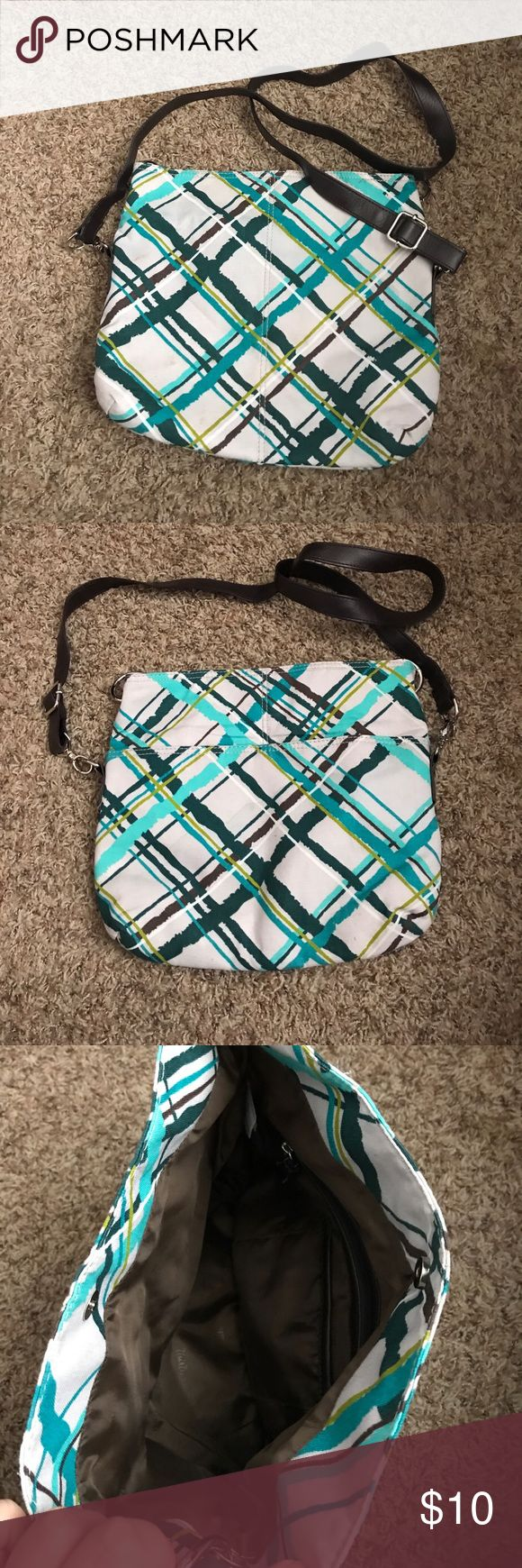 Thirty One Shoulder/Crossbody Bag Barely used but the outside could use a light clean. Given to me as a gift, not really my style. Make me an offer! Thirty One Bags Crossbody Bags