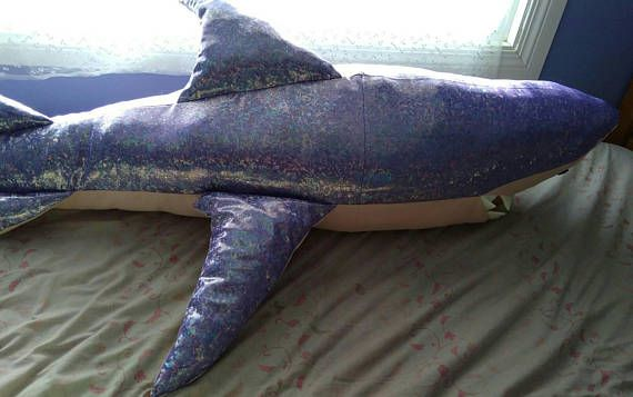 Check out this item in my Etsy shop https://www.etsy.com/ca/listing/583201357/iridescent-giant-shark-body-pillow
