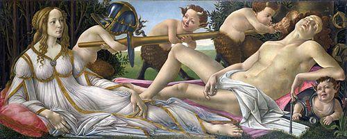 Venus and Mars (c.1483) by Sandro Botticelli.