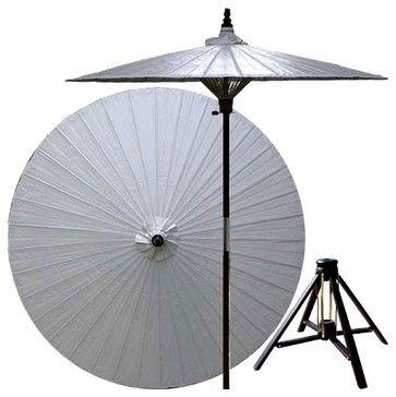 7 ft. Tall Lychee Patio Umbrella w Bamboo Sta contemporary-outdoor-umbrellas
