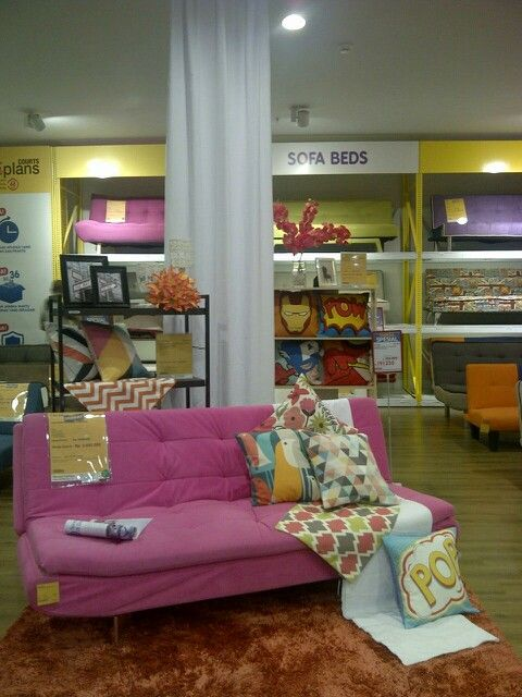 Sofabed with cushion #visualmerchandising