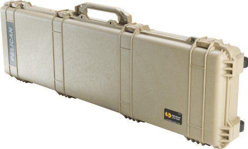 Pelican 1750 Watertight Protector Gun Case w/ Wheels & Foam - 50.5in Interior, Desert 1750-000-190