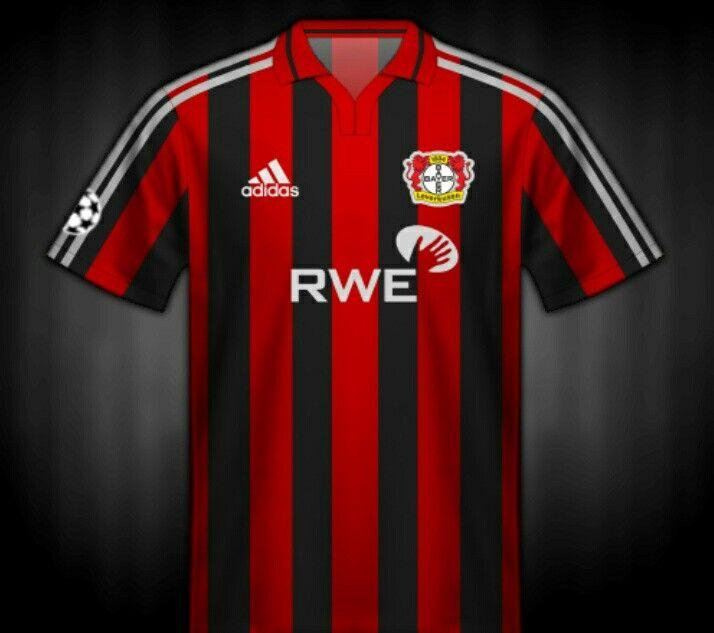 Bayer Leverkusen shirt for the 2002 Champions League Final.