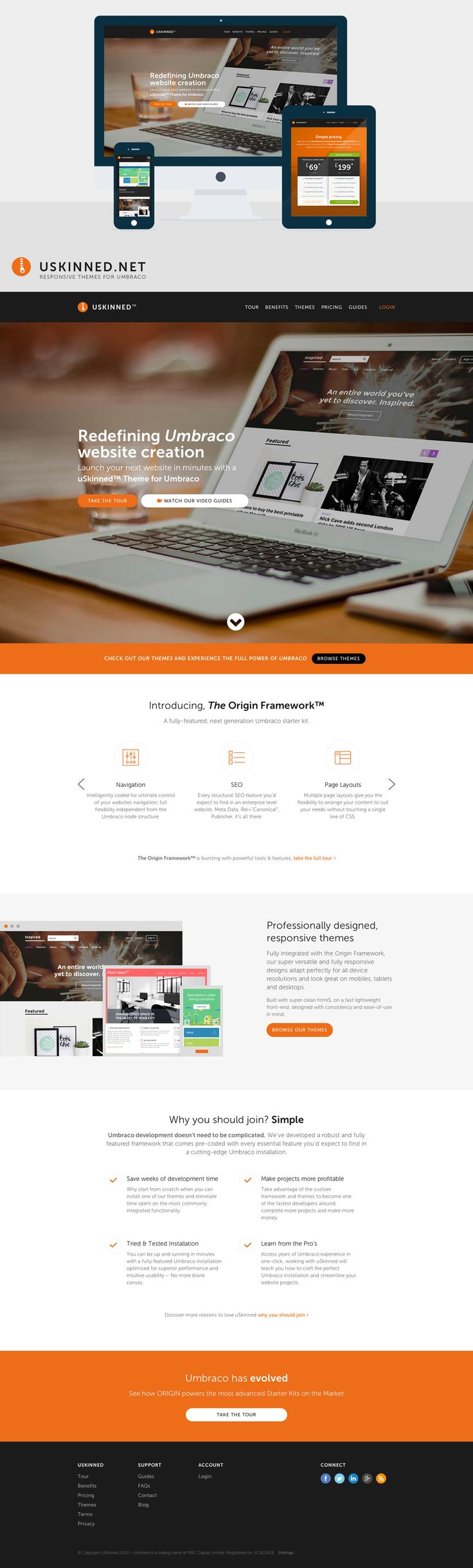 Redefining Umbraco website creation: Launch your next website in minutes with a uSkinned™ Theme for Umbraco.  https://uskinned.net/  #responsive #umbraco #themes