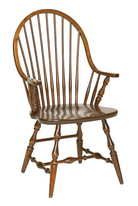 Amish Handcrafted New England Windsor Dining Room Chair  Lancaster Collection  An American classic, you can't go wrong with this traditional New England Windsor Dining Room Chair.