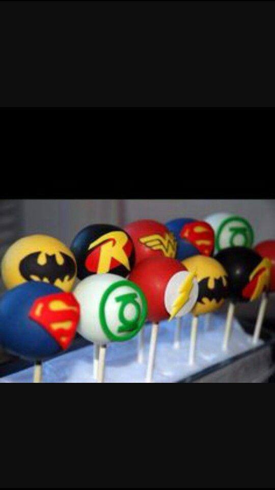 Comic book cake pops