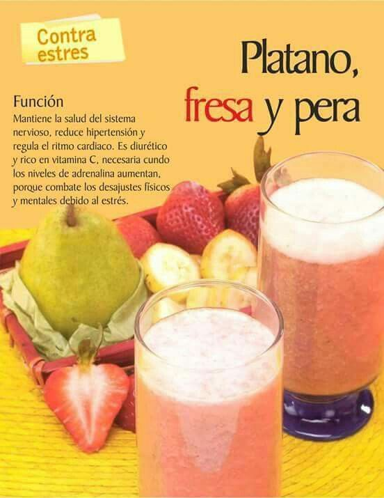Platano fresa y pera