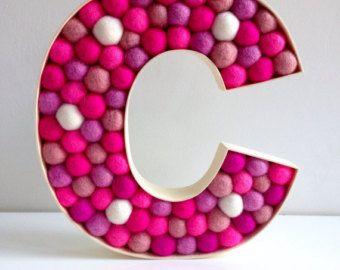 Kids Room lettre décorative G. feutre Ball gratuit par hoppsydaisy