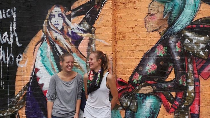Collaboration between LucyLucy and Hannah Adamaszek at Dalston Junction, London