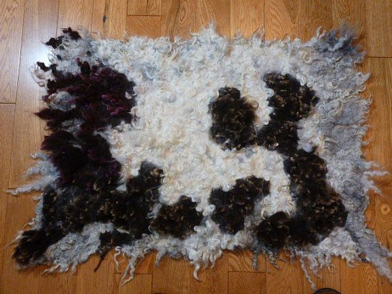 cat bed, rustic rug for cat, handmade cat bed, pet rug, hand felted  rug, cat- small dog  bed from sheep fleece, all natural for your pet
