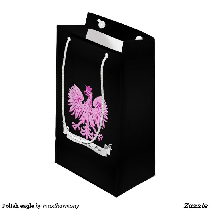 Polish eagle small gift bag