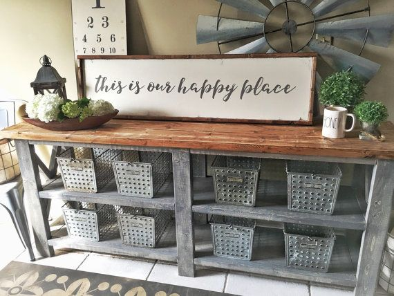 Hey, I found this really awesome Etsy listing at https://www.etsy.com/listing/273673338/this-is-our-happy-place-wooden-sign