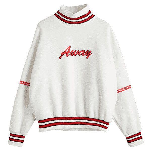 Mock Neck Fleece Lining Sweatshirt White ($30) ❤ liked on Polyvore featuring tops, hoodies, sweatshirts, white mock neck top, mock neck sweatshirt, fleece lined sweatshirt, white top and white sweatshirt