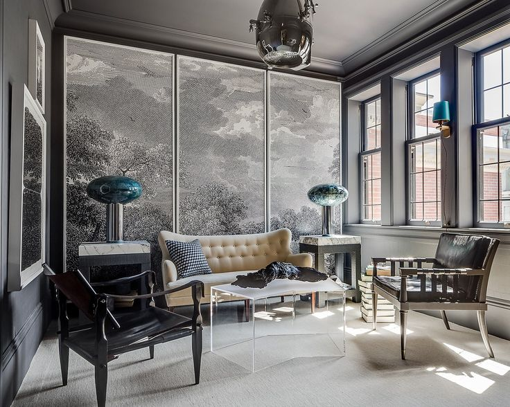 1000 ideas about residential interior design on pinterest for Etched arcadia mural wallpaper