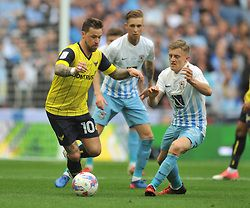 Coventry City 2 Oxford Utd 1 in May 2017 at Wembley. Oxford's Chris Maguire comes forward with the ball in the FA Football League Trophy Final.