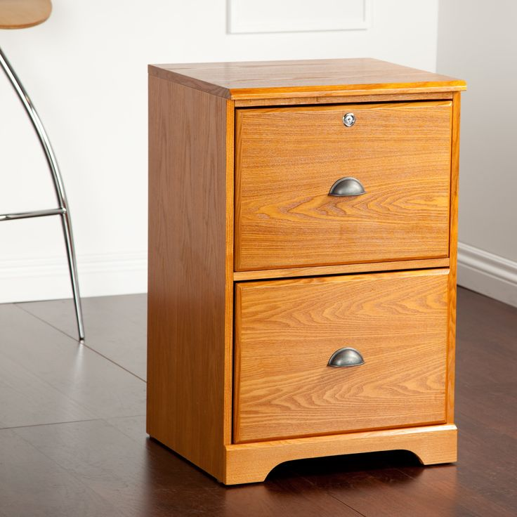 Wood File Cabinet With Locking Drawers
