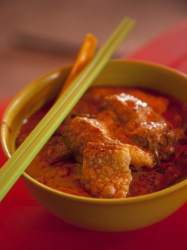 Delicious Curry Laksa.  My personal mission is to taste as many Laksa's to find the World's Best!!  #MalaysiaAus  #AirAsia