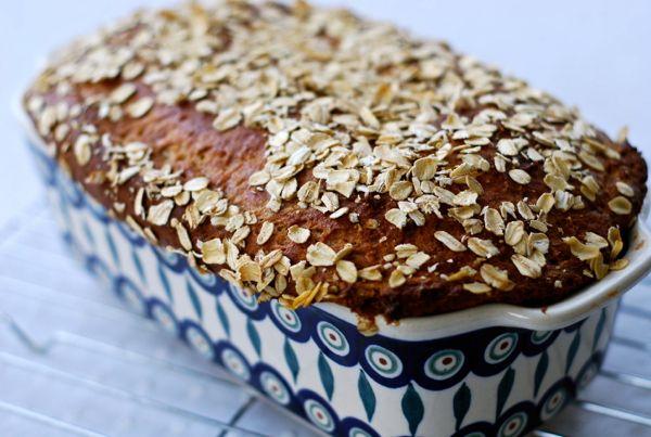 10 Grain Yogurt Quick Bread -- uses Bob's Red Mill 10 grain flour and Greek yogurt.  Can slice for sandwiches.