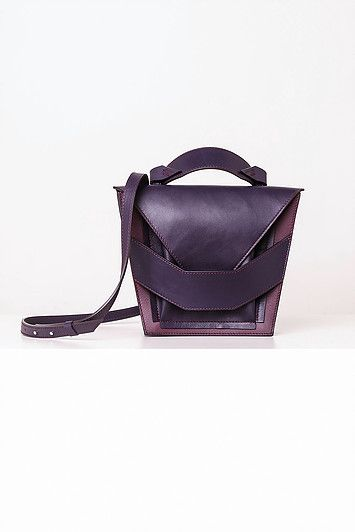 Linda Sieto / Soft Edge Part II./ FW16/17 - Layered Purple Burgundy Bag