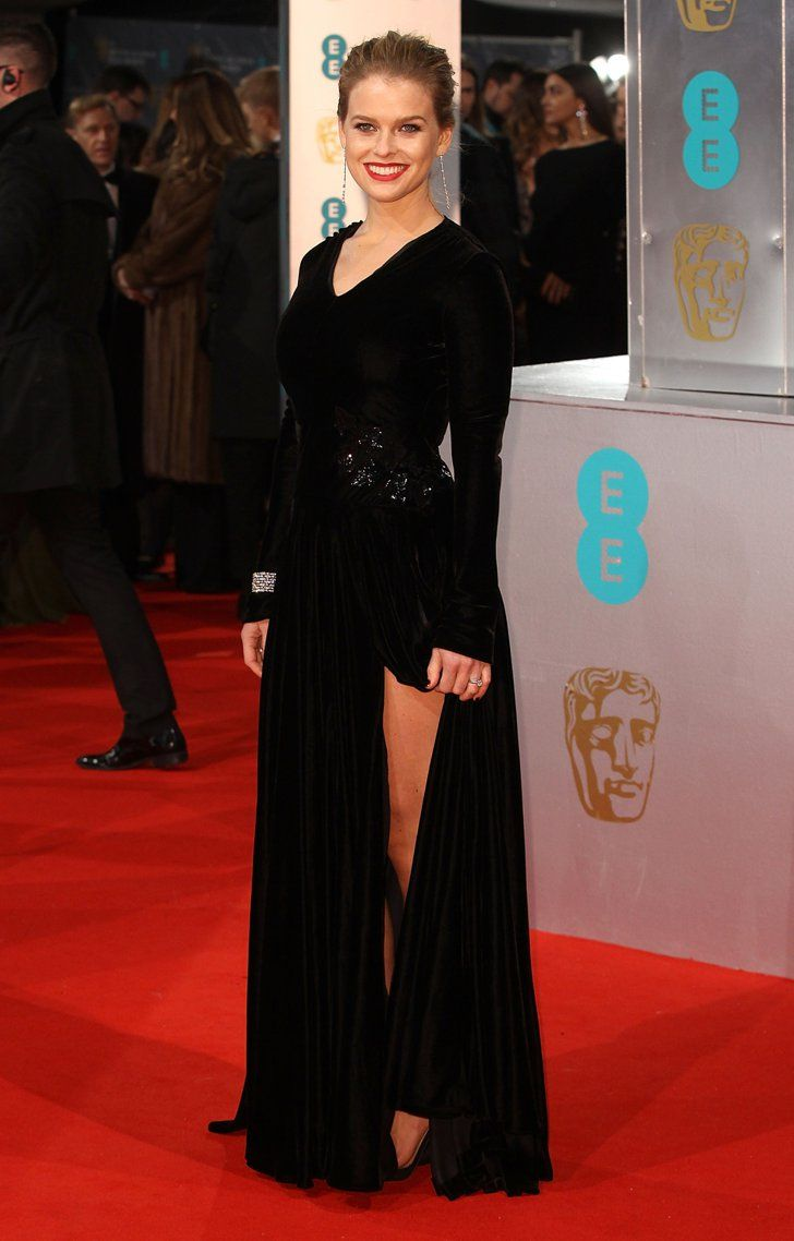 Pin for Later: Stars Go All Out on the BAFTA Awards Red Carpet in London Alice Eve