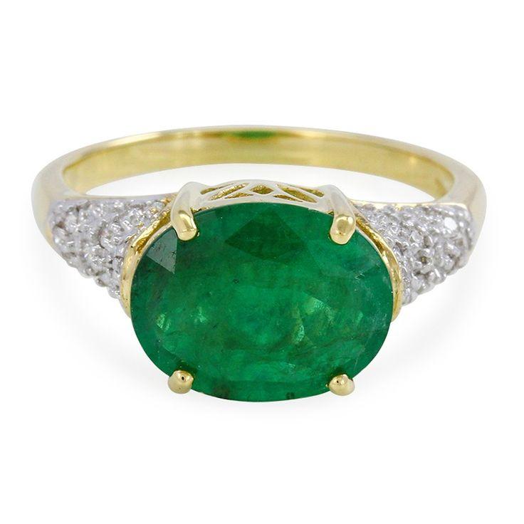 Superbe émeraude de Nova Era de  2,38 ct et Diamants VS montés sur bague en or 18K - Bijoux pour femme - Juwelo Bijouterie en Ligne
