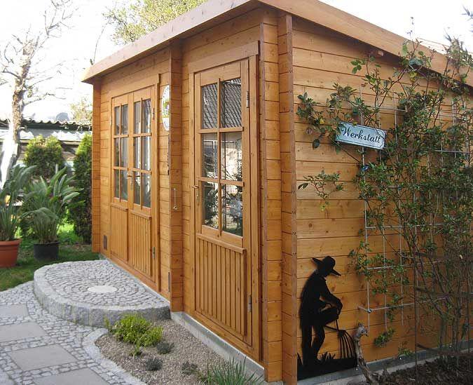 Das Gartenhaus Als Werkstatt Gartenhaus Haus Und Garten Garten