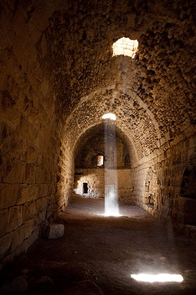 The interior of the 12th century Karak castle, which is one of the largest crusader castles in the Levant.