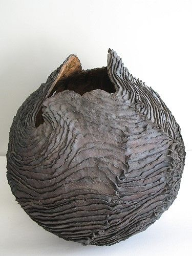Isabelle LeClercq from Marcq-en-Baroeul, France - Cocon 2011 Stoneware with oxides and engobes ...