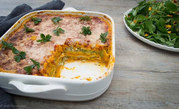 Pumpkin Lasagne (with lots of twists) - this vegetable loaded lasagne is quick and easy to make. Includes variations for vegan, dairy, egg and gluten-free. Also a regular and Thermomix method.