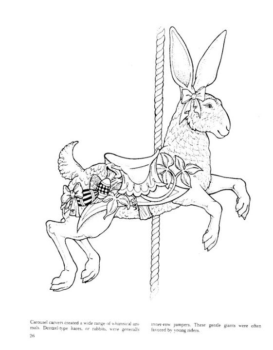 coloring pages of carousel zebra - photo#24