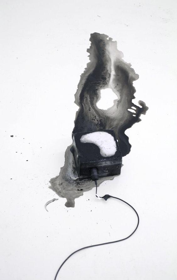 Kitty Kraus   ice, ink, light bulb