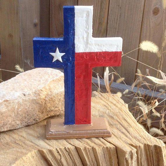 Cubicle Buddy Texas Flag Standing Cross 7 Handmade Flag Stand Texas Flags Handmade