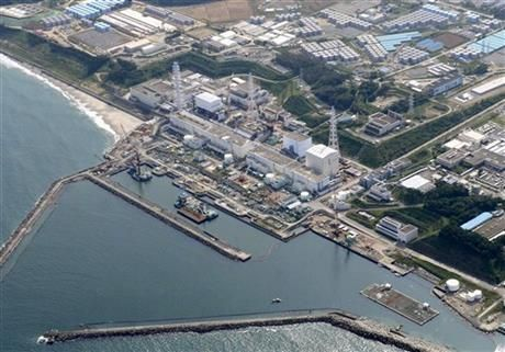 FILE - In this aerial file photo taken on Aug. 31, 2013, shows the Fukushima Dai-ichi nuclear plant at Okuma town in Fukushima prefecture, northeastern Japan. (AP Photo/Kyodo News, File) JAPAN OUT, MANDATORY CREDIT ▼2May2014AP|Experts question ice wall at Japan nuclear plant http://bigstory.ap.org/article/experts-question-ice-wall-japan-nuclear-plant #Fukushima_Daiichi_nuclear_power_plant #Tohoku2011