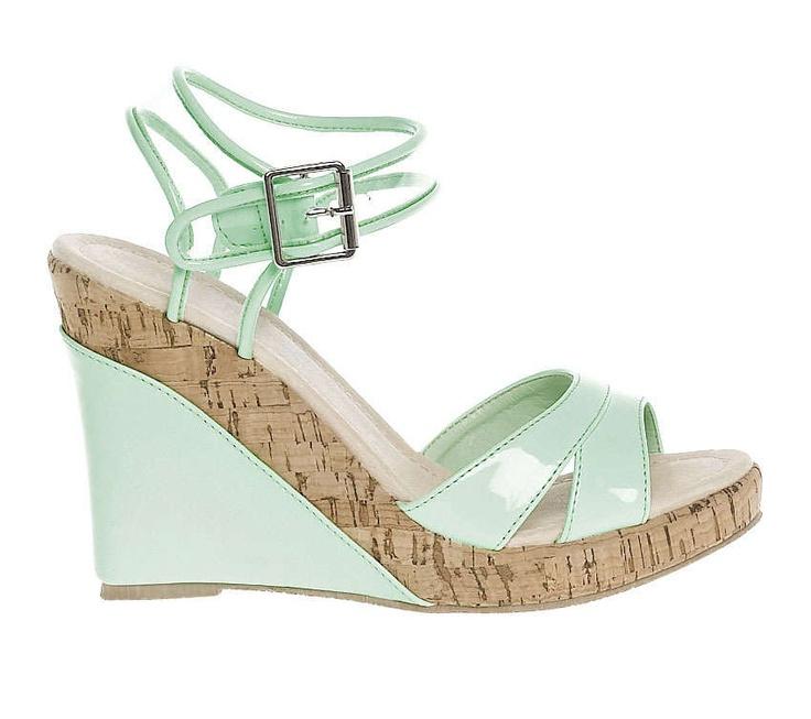 sandale plastique transparent - Coloris : vert tendre - Dessus : synthetique