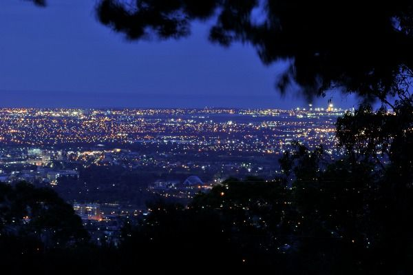 Mt Osmond Golf Club -Stunning view of Adelaide at night.