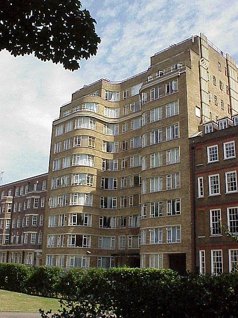 Florin Court, London - best known as Whitehaven Mansions, residence of Hercule Poirot