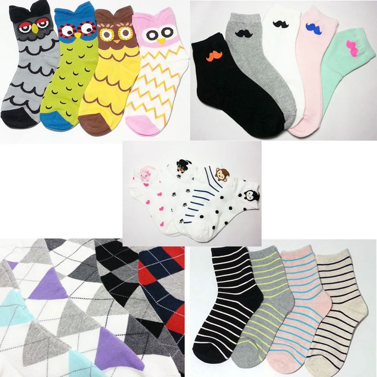 New 2 pairs cotton Cute Women and Girls' fashion casual color socks All season #TC