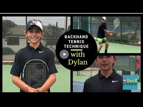 Backhand Tennis Technique | Gen Z Experiment