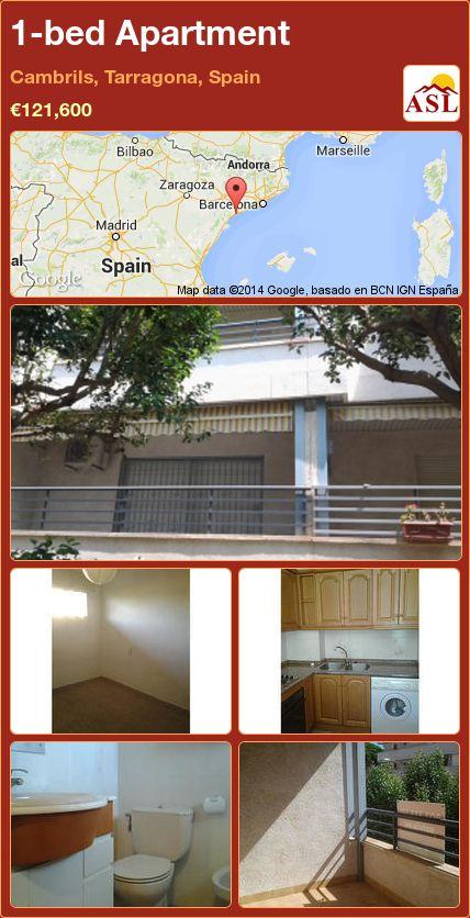 1-bed Apartment in Cambrils, Tarragona, Spain ►€121,600 #PropertyForSaleInSpain