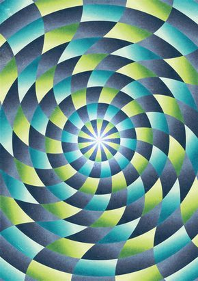 Cool Op Art pattern in AI, and the tutorial on how to create it. I look forward to trying this out. Use with color theory?  How to paint tints and shades